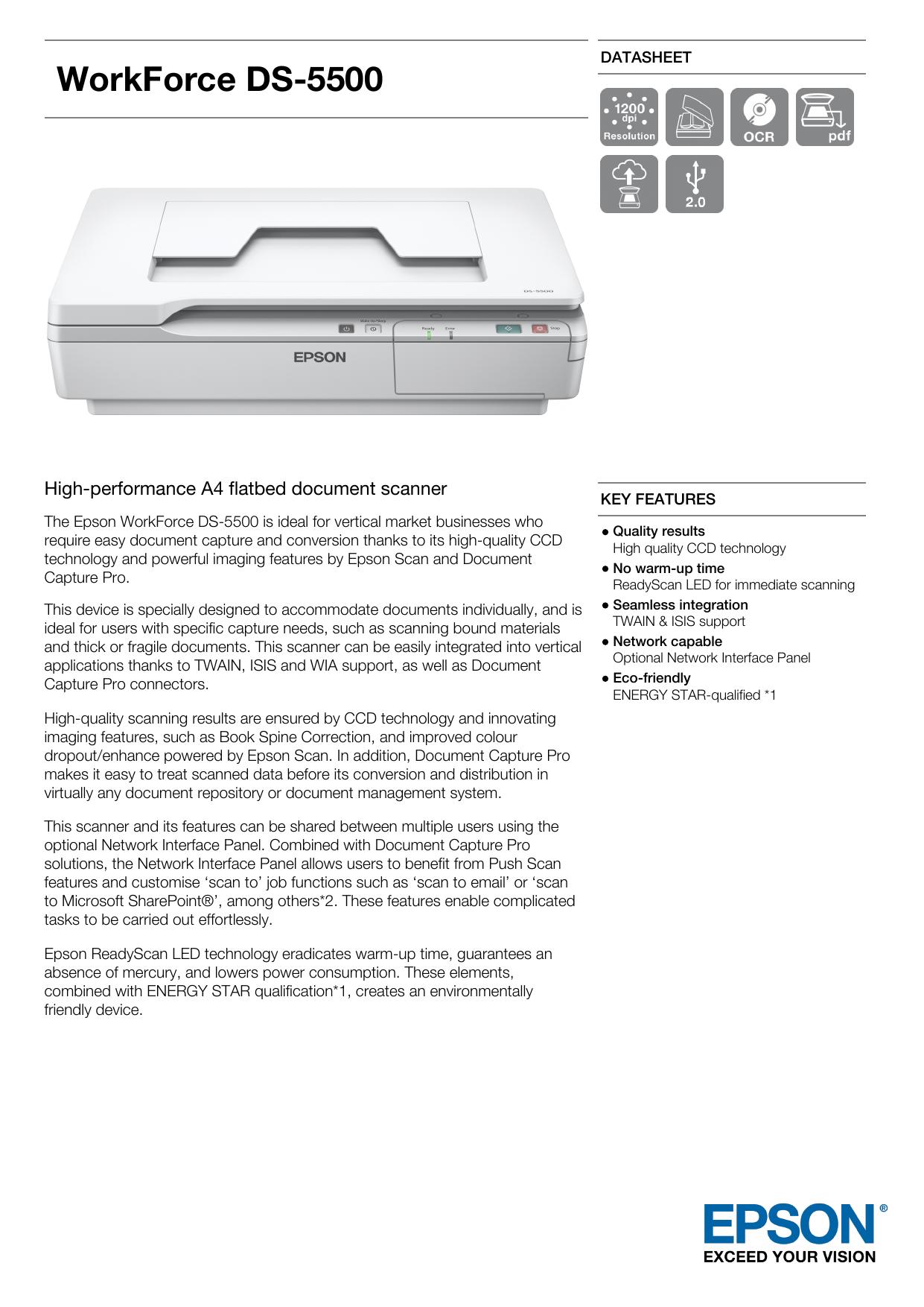 WorkForce DS-5500 | manualzz com