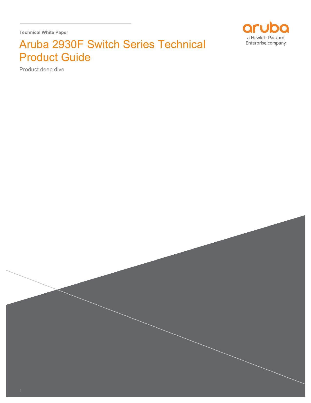 Aruba 2930F Switch Series Technical Product Guide | manualzz com