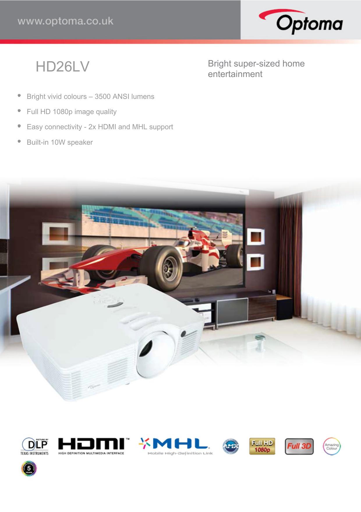HD26LV - Optoma | manualzz com