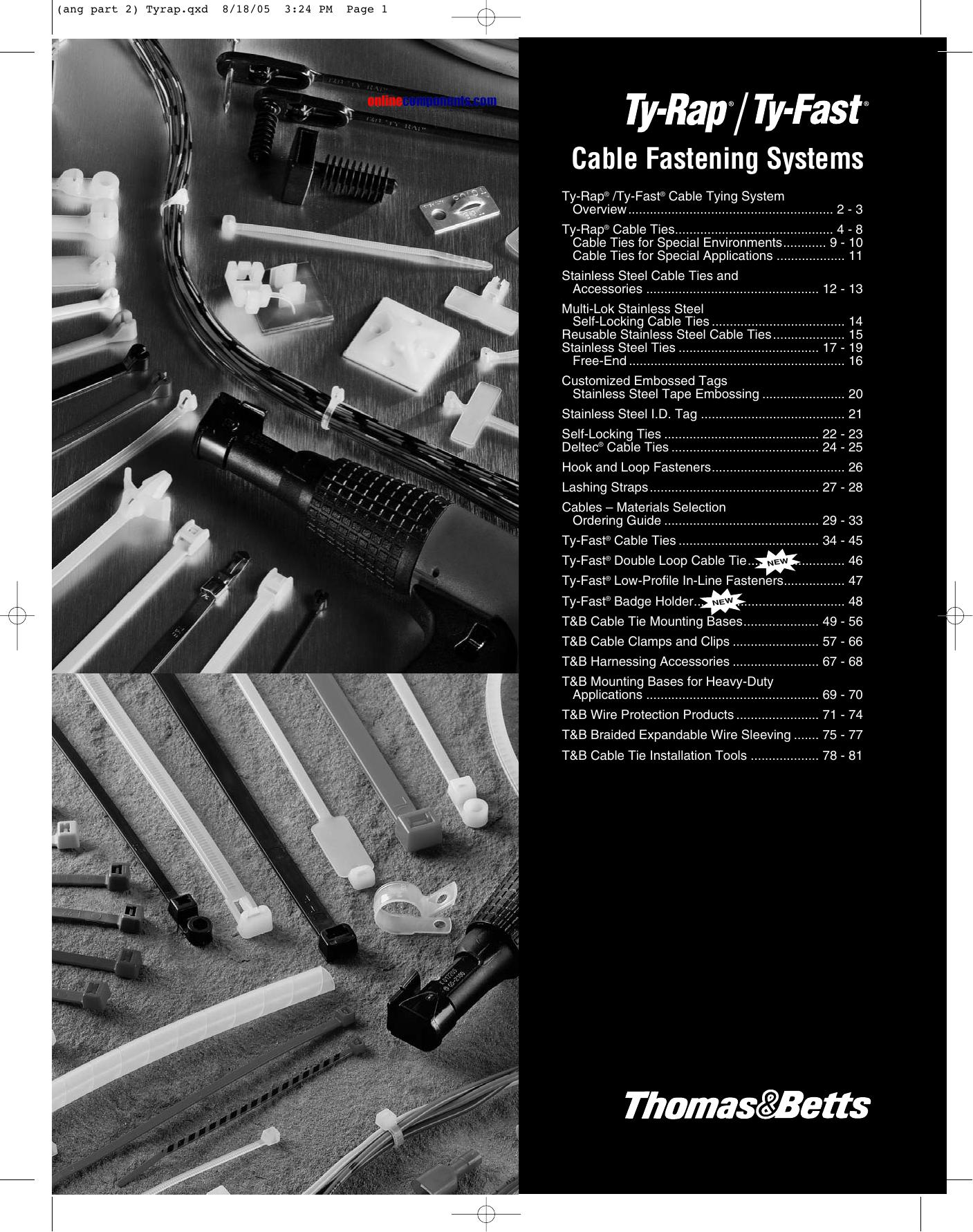 5c86334f878e Cable Ties | manualzz.com