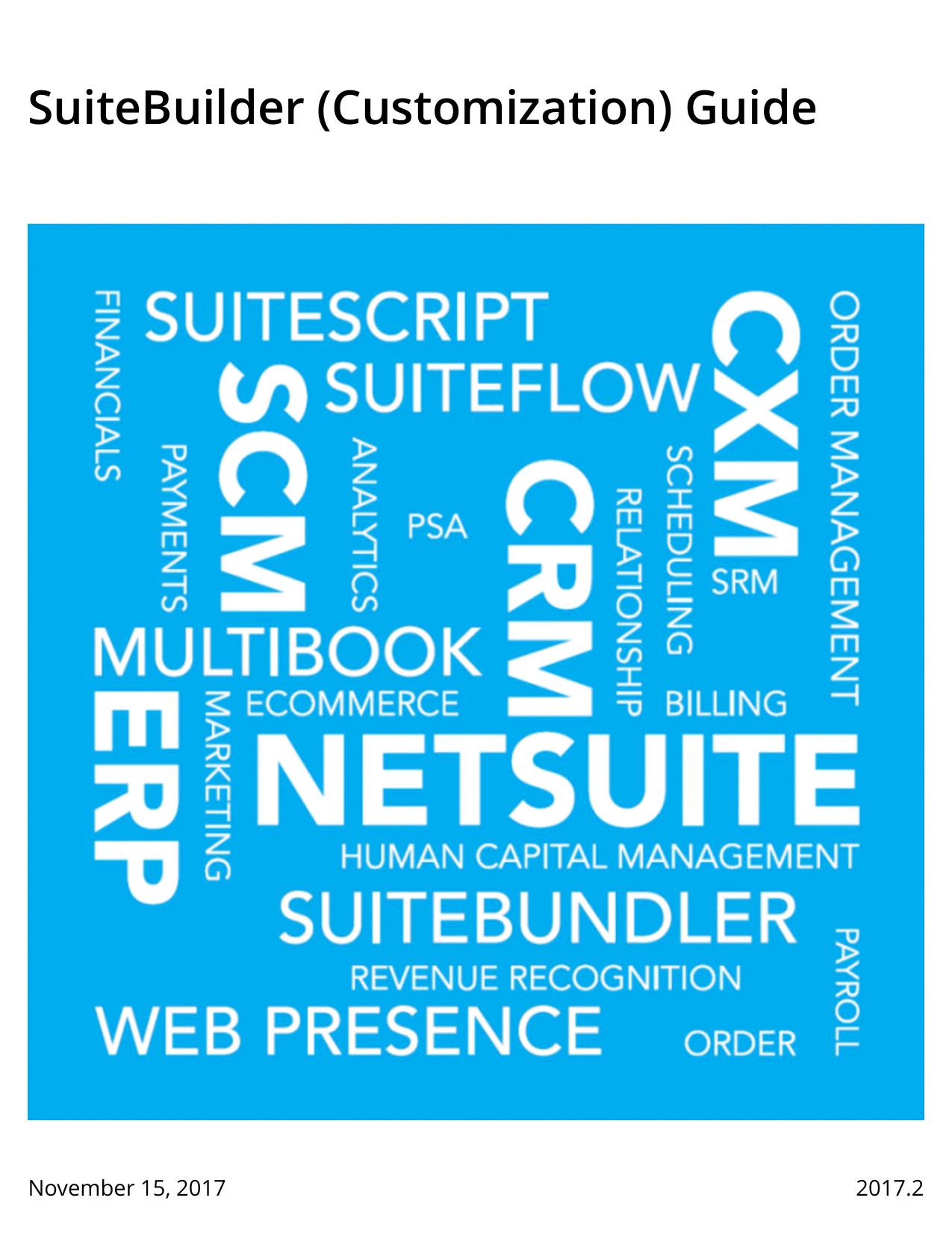 SuiteBuilder (Customization) Guide | manualzz com