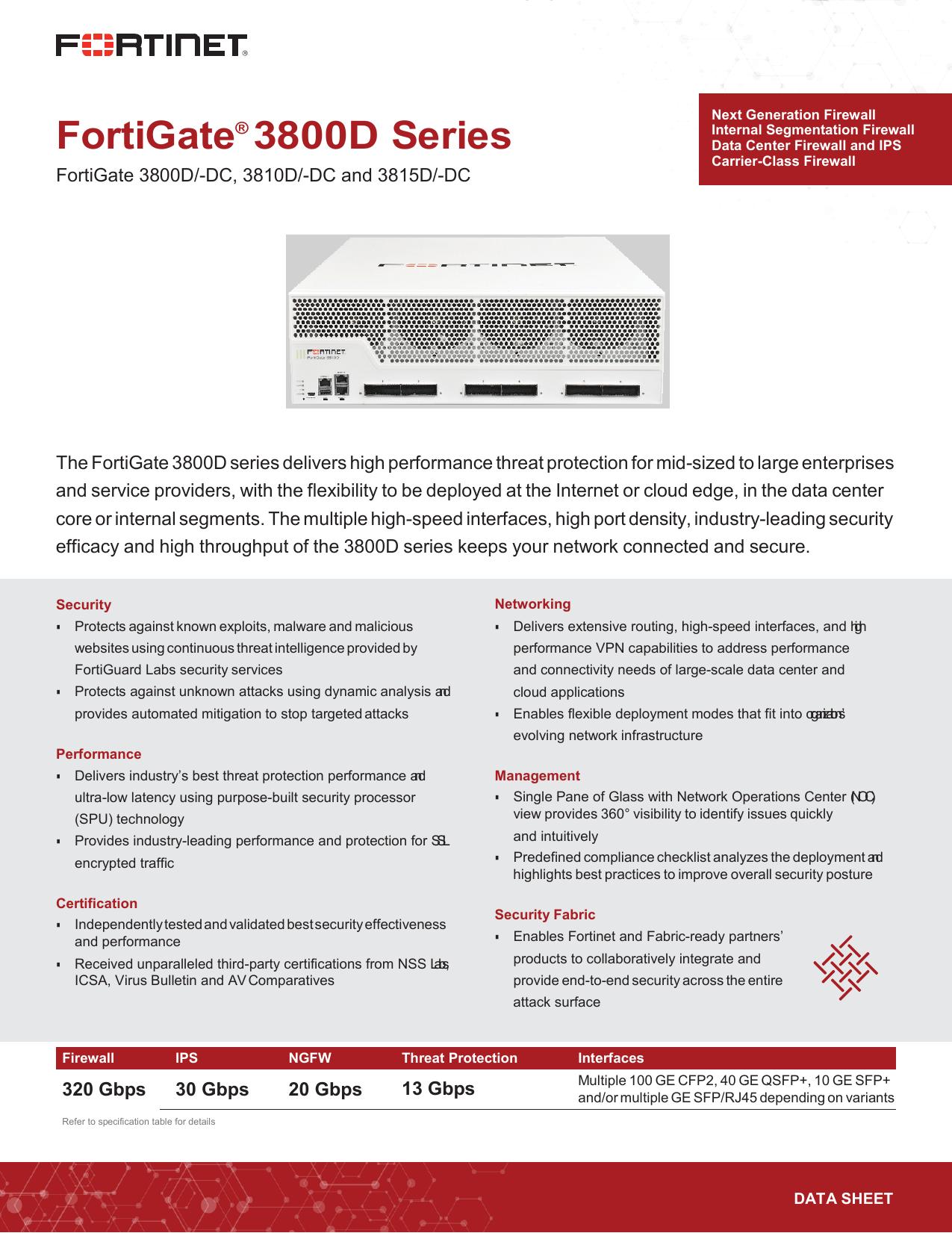 Fortigate 3800d Series Data Sheet Manualzz