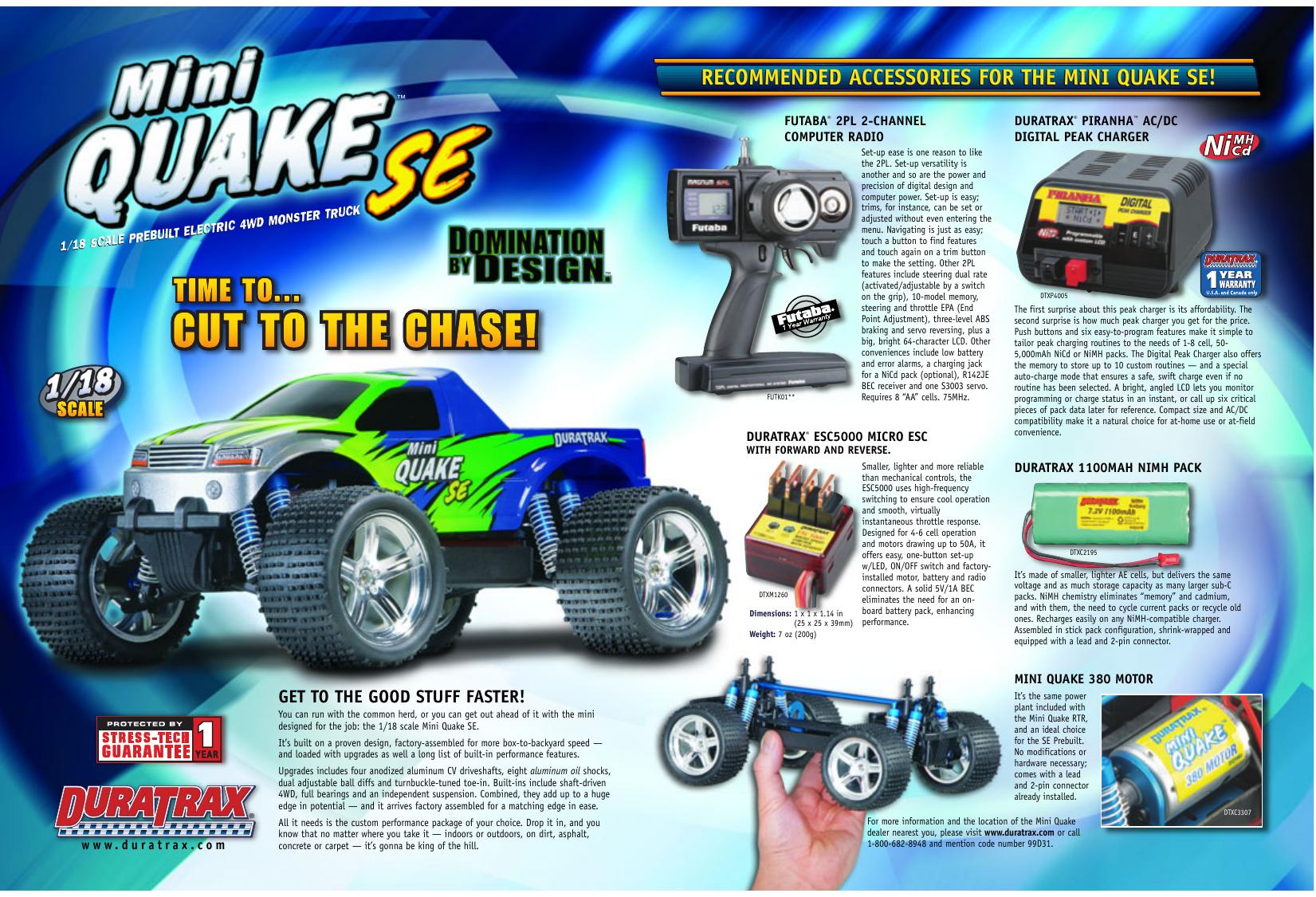 Sonstige DuraTrax Motor Mount Screws Mini Quake 4
