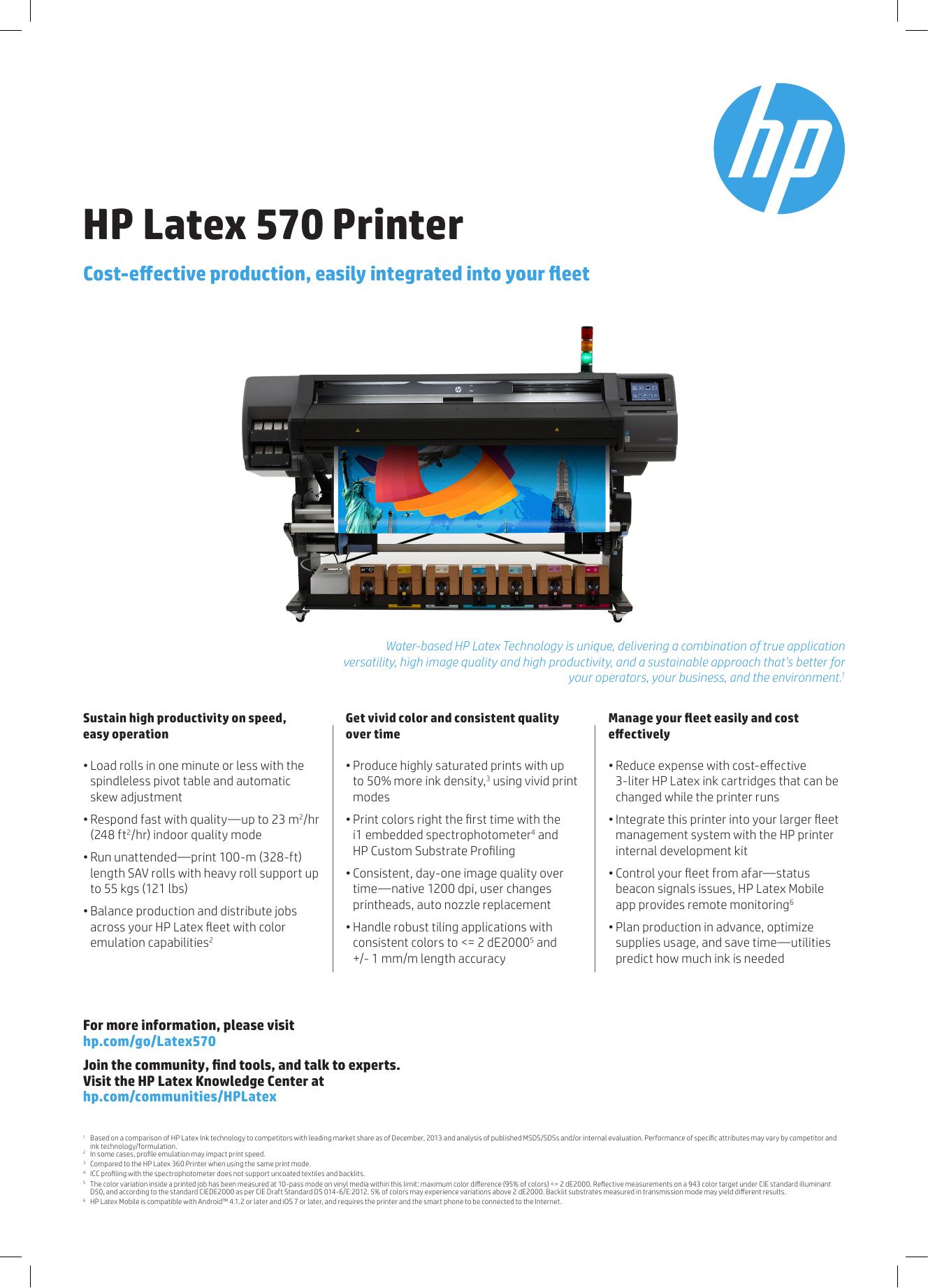 HP Latex 570 Printer | manualzz com