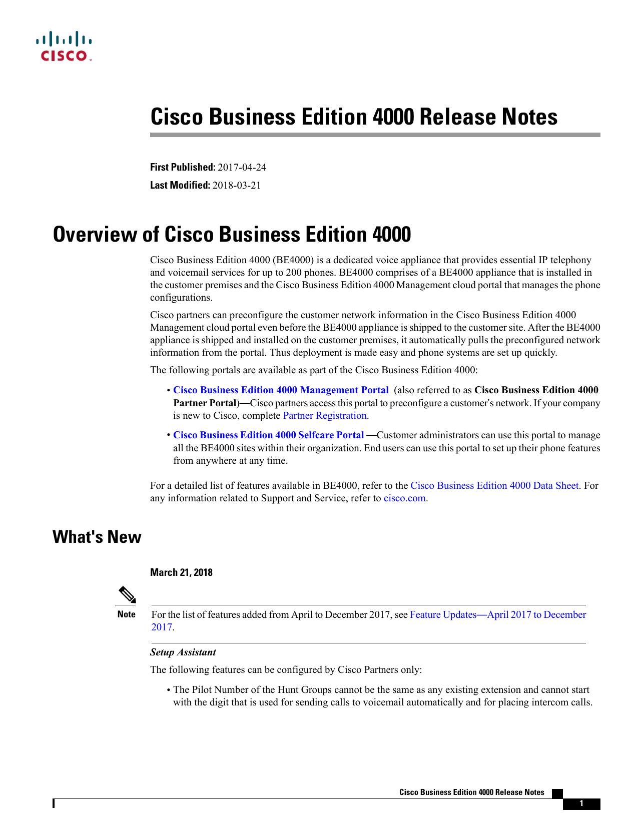 Cisco Business Edition 4000 Release Notes   manualzz com