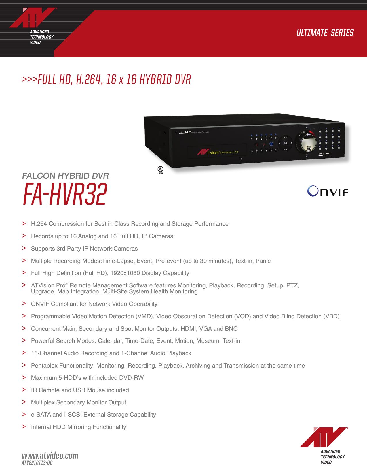 FA-HVr32 - Advanced Technology Video   manualzz com