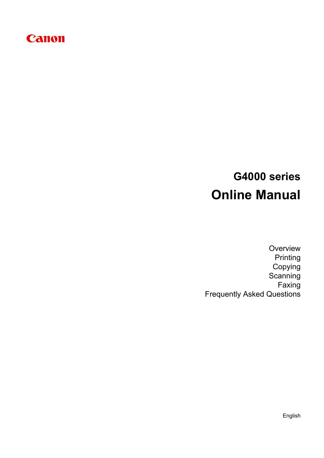 Canon PIXMA G4400 User manual | manualzz com