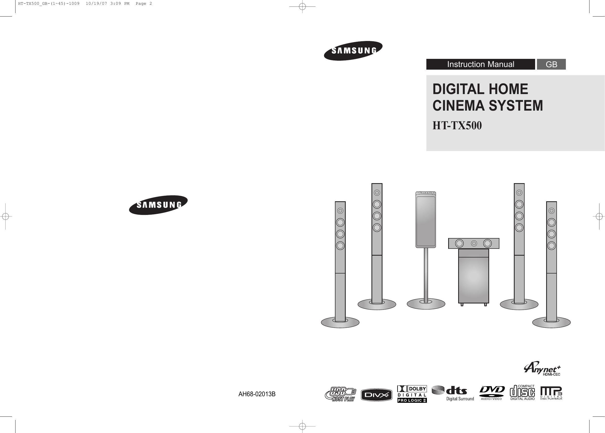 Samsung Ht Tx500 User Manual Manualzz