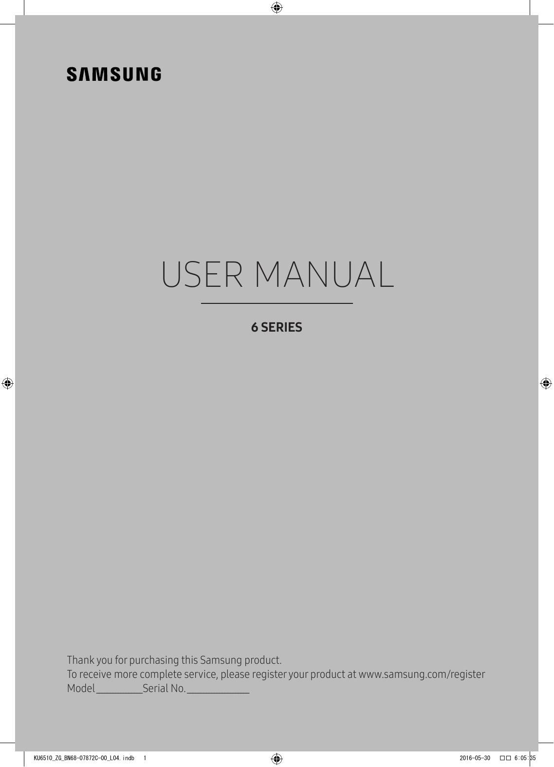 Samsung 49'' Curved UHD TV KU6519 User Manual | manualzz com