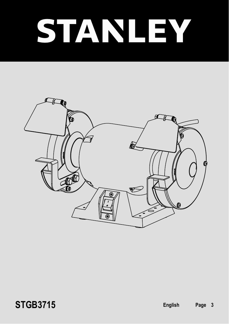 Peachy Stanley Stgb3715 Bench Grinder Instruction Manual Manualzz Com Machost Co Dining Chair Design Ideas Machostcouk