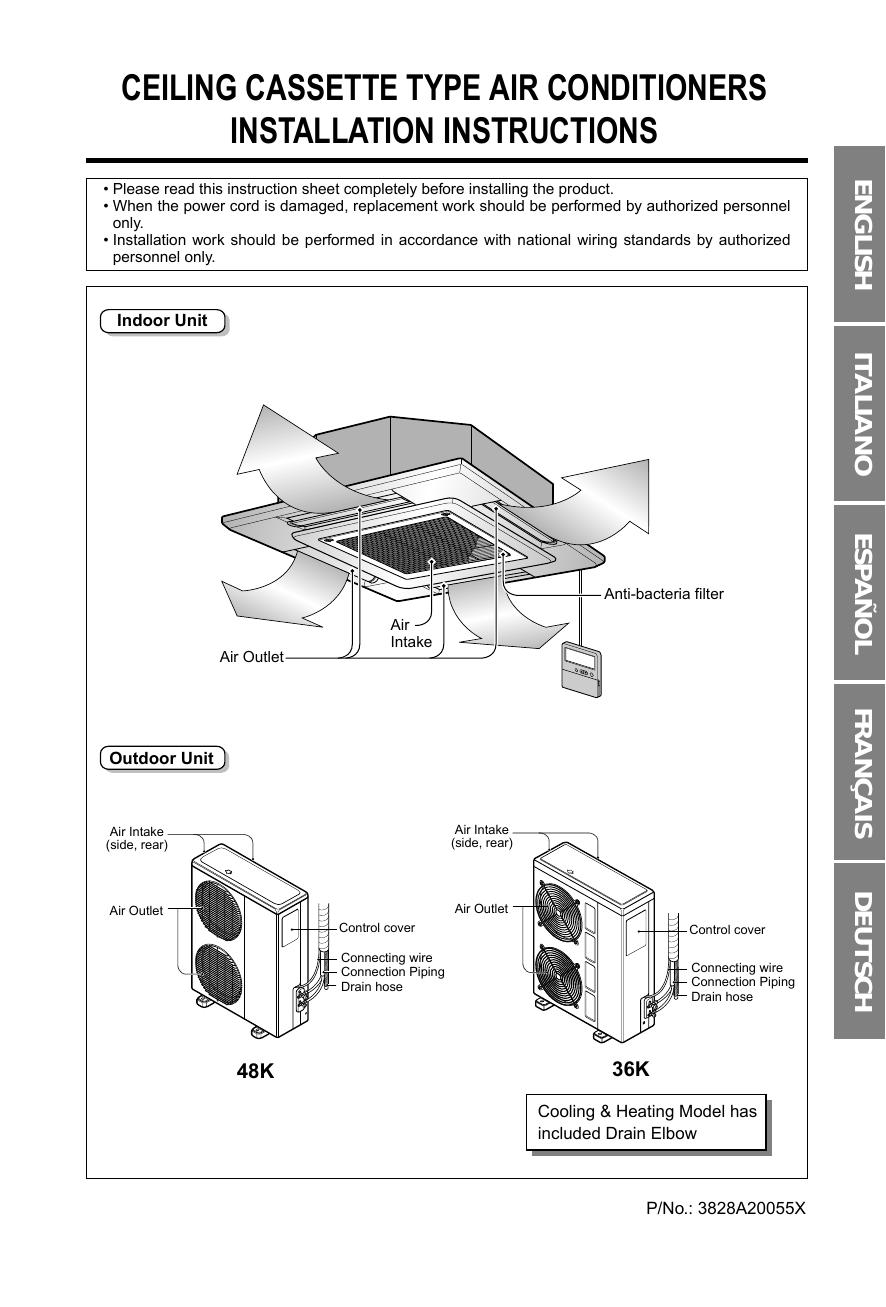 air conditioner drain diagram lg lt d4880hl owner s manual manualzz  lg lt d4880hl owner s manual manualzz