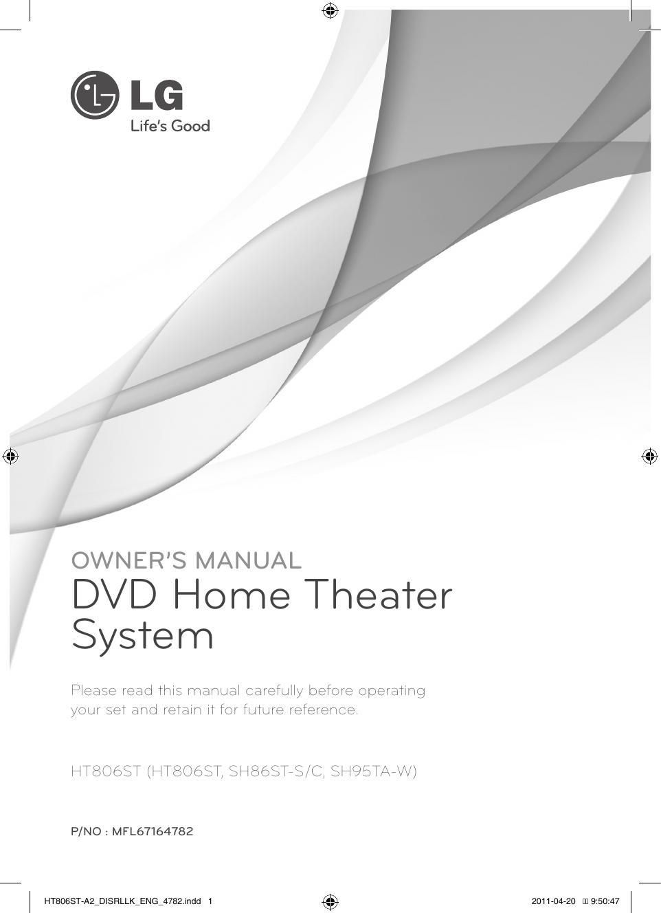 Lg Ht806st Owner S Manual Manualzz