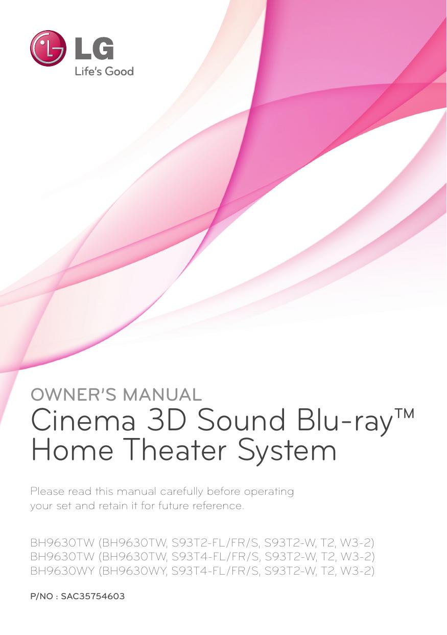 LG BH9630TW Owner's manual | manualzz com