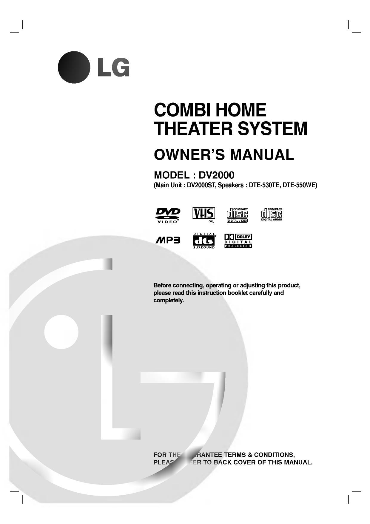 Lg Dv2000st Owner S Manual Manualzz