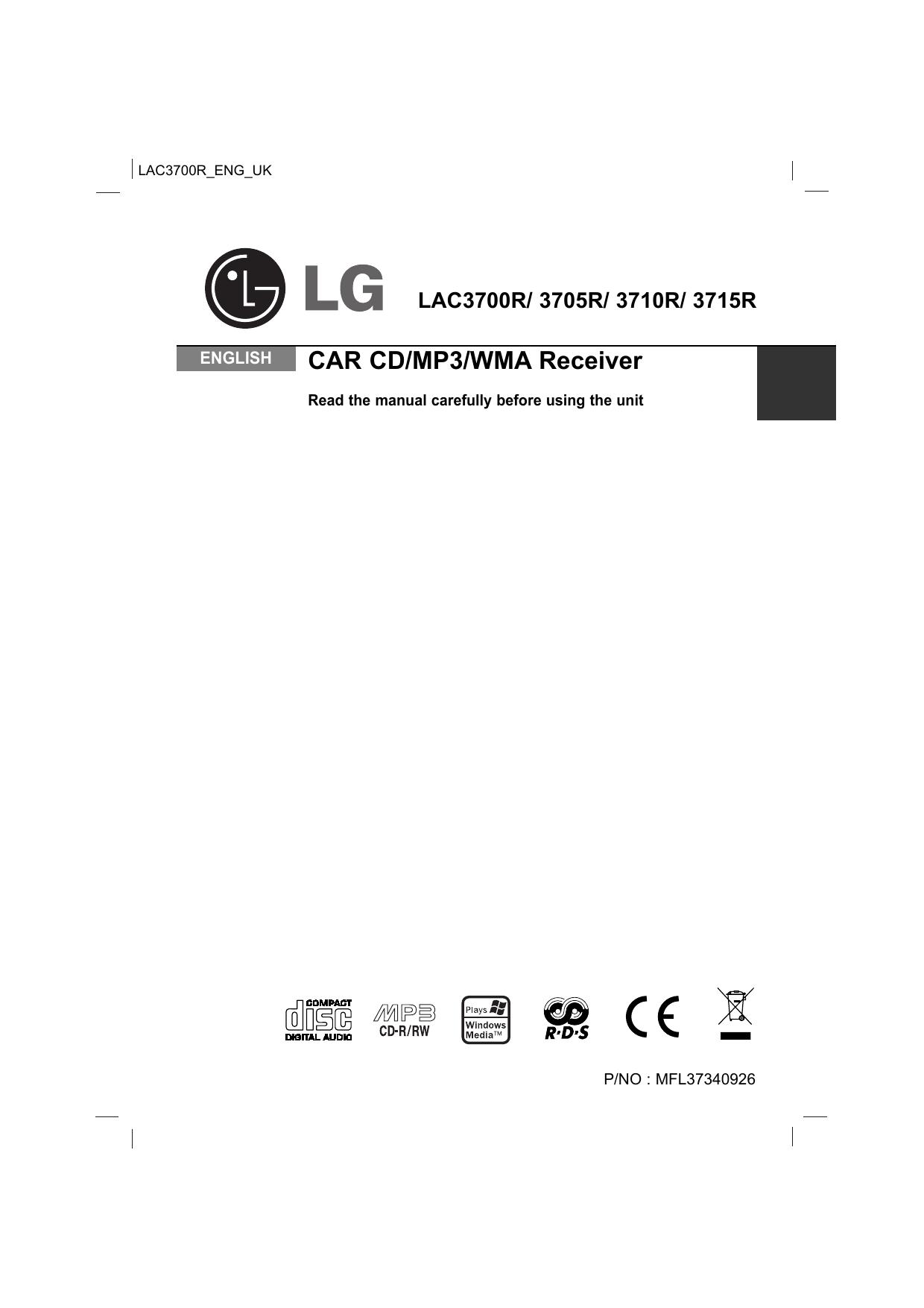 lg lac4700r manual