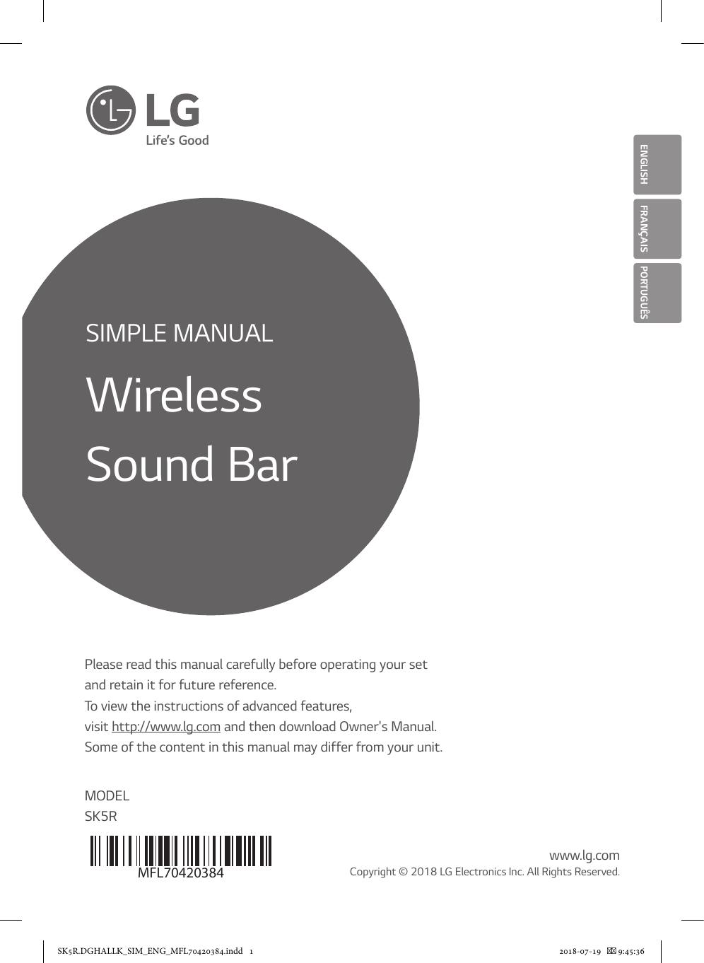 LG SK5R Owner's manual | manualzz com