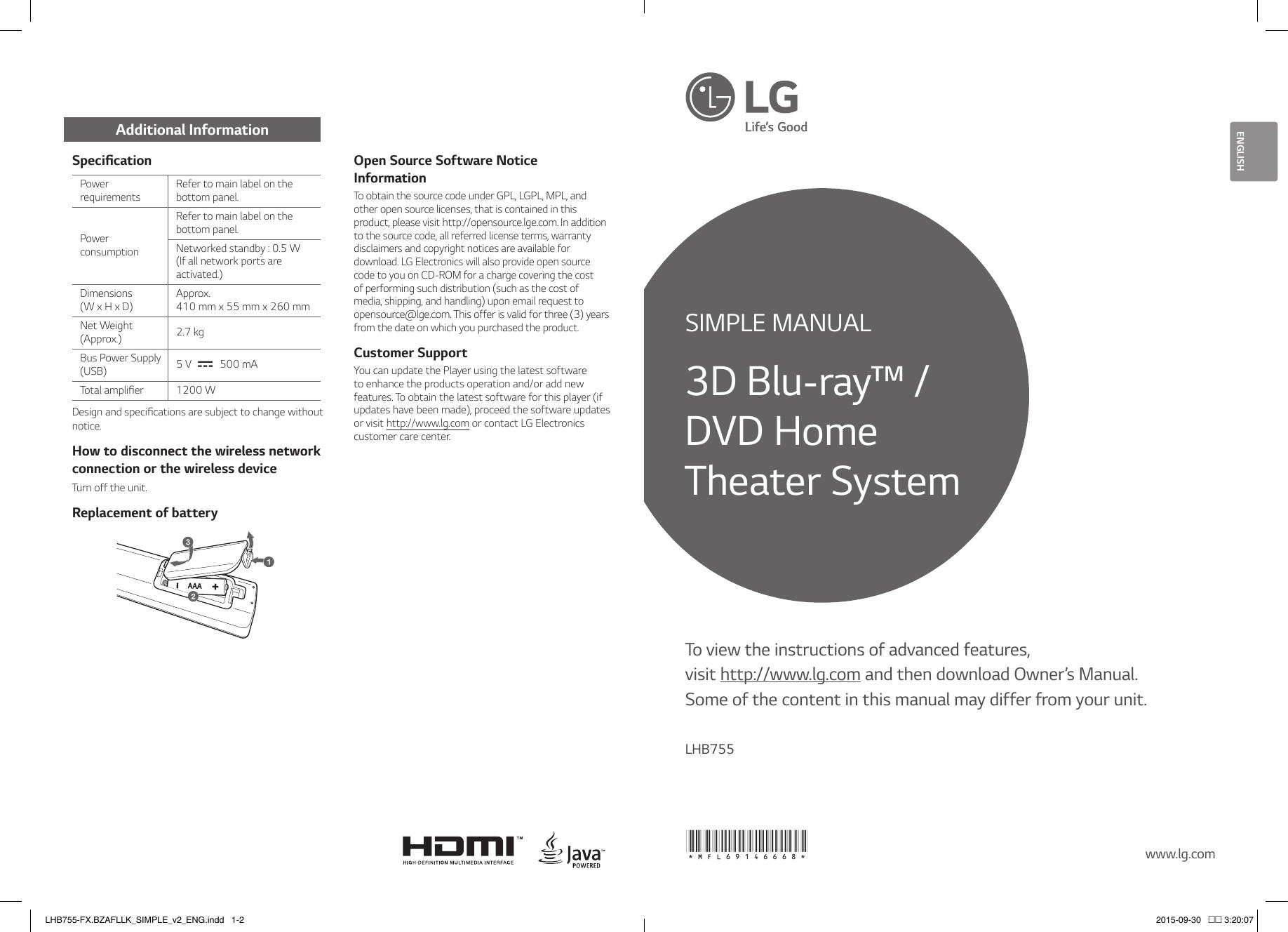 LG LHB755-FX Owner's manual | manualzz com