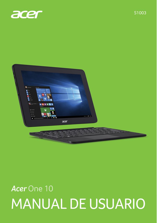 Acer S1003 Guía del usuario W10 | manualzz.com