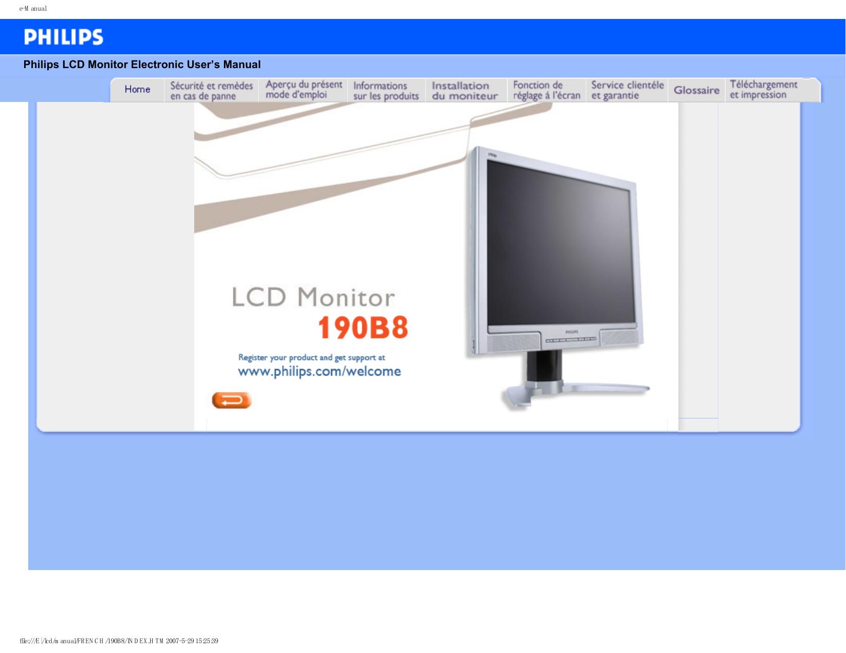190b8cs00 Moniteur D'emploi Philips Lcd Mode T1JlFKc3