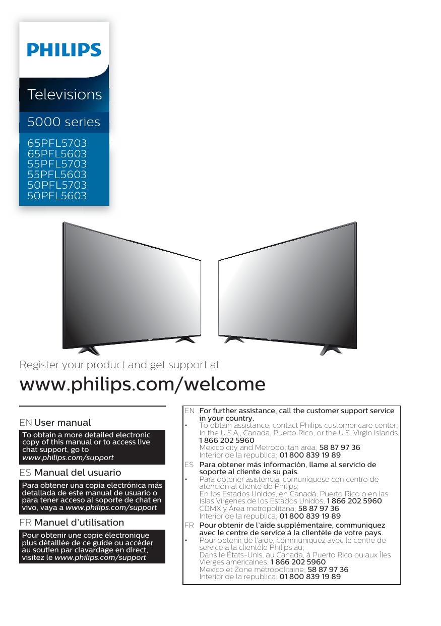 Philips 5000 series Smart Ultra HDTV 55PFL5603/F7 User