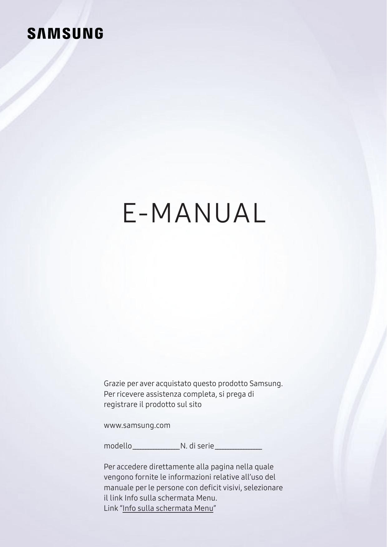 e5e05c77d2b Samsung TV UHD 4K 40   Flat Smart Serie 7 NU7190 Manuale utente ...