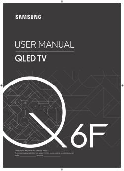 Samsung QE49Q6FNAT - User manual