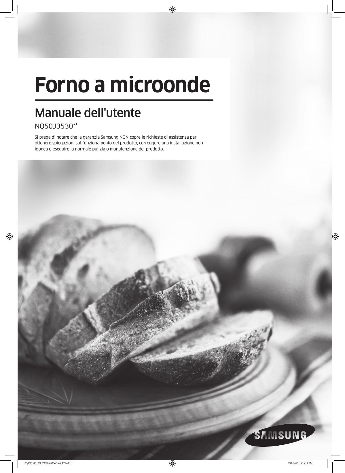 Mobiletto Per Appoggiare Microonde samsung forno multifunzione compact nq50j3530bs manuale