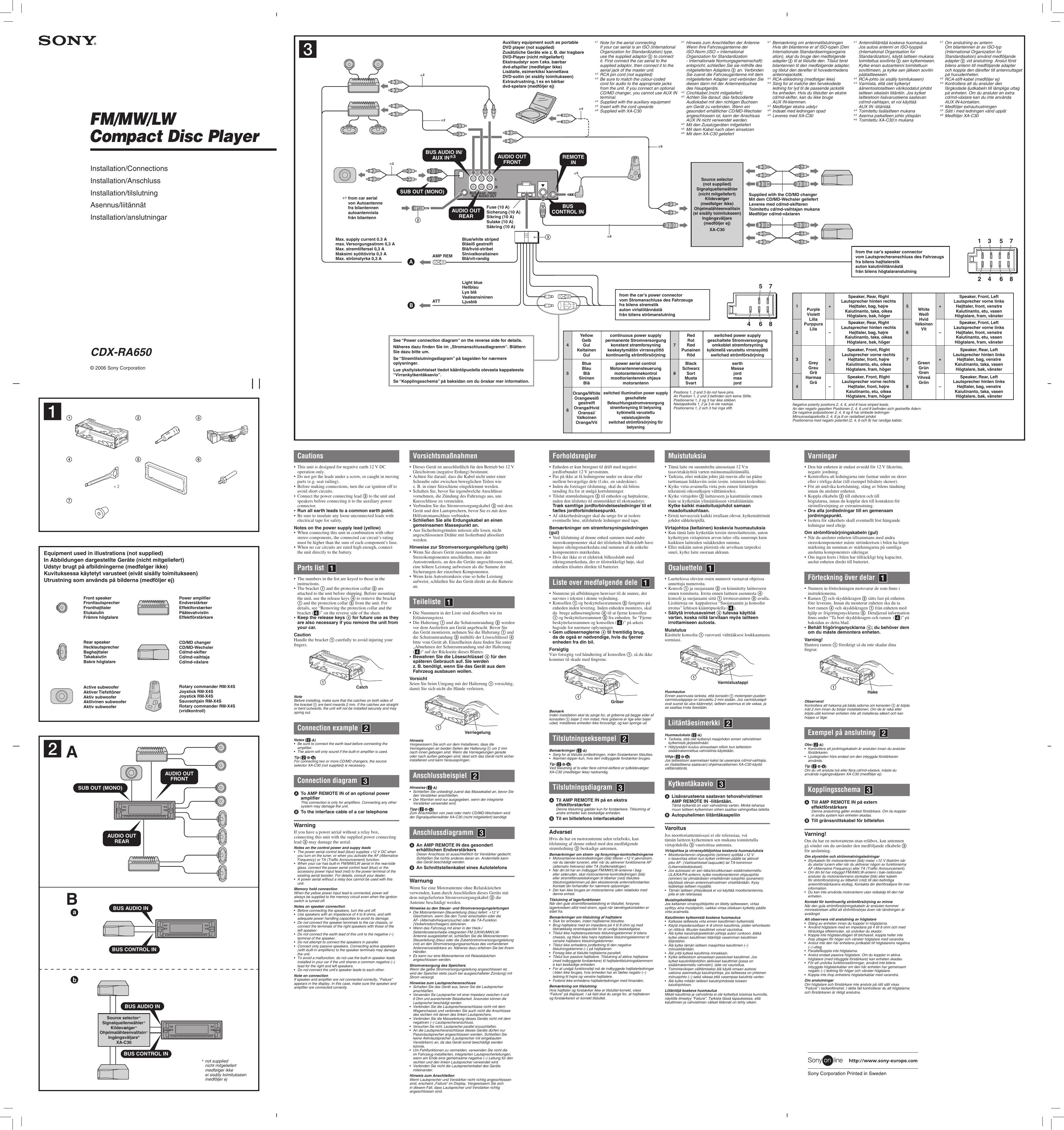 Sony Cdx R30m Wiring Diagram