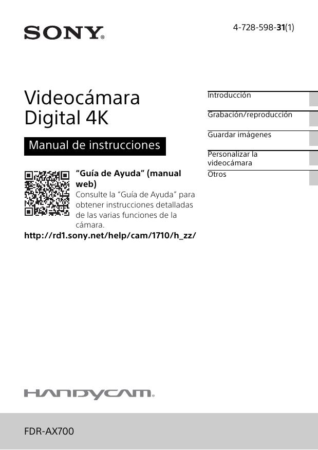 Fuente de alimentación Sony ax53 4k handycam fdr-ax53 fdr-ax33 fdr-axp33 hdr-pj620 adaptador de CA