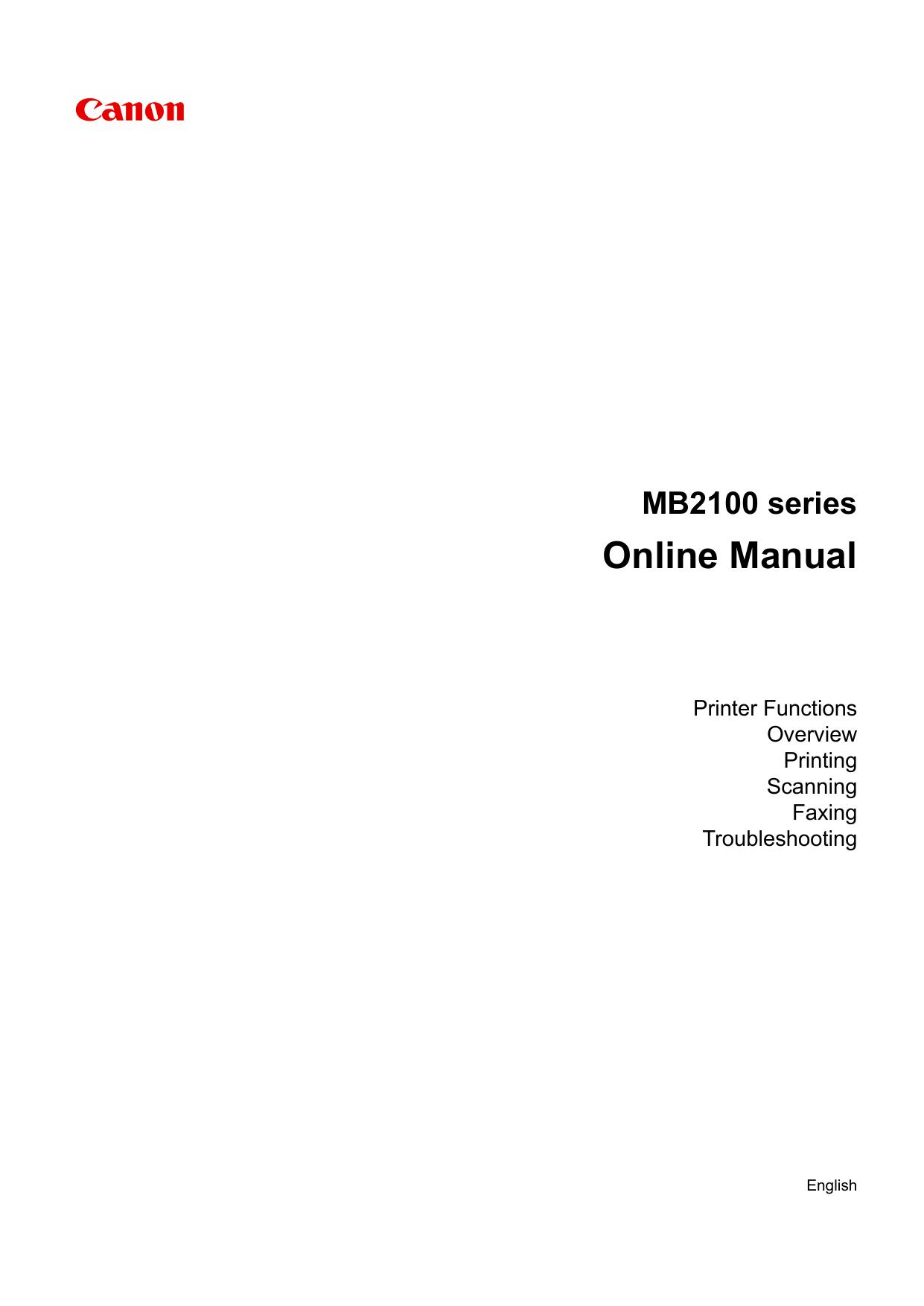 Canon MAXIFY MB2155 User manual | manualzz com