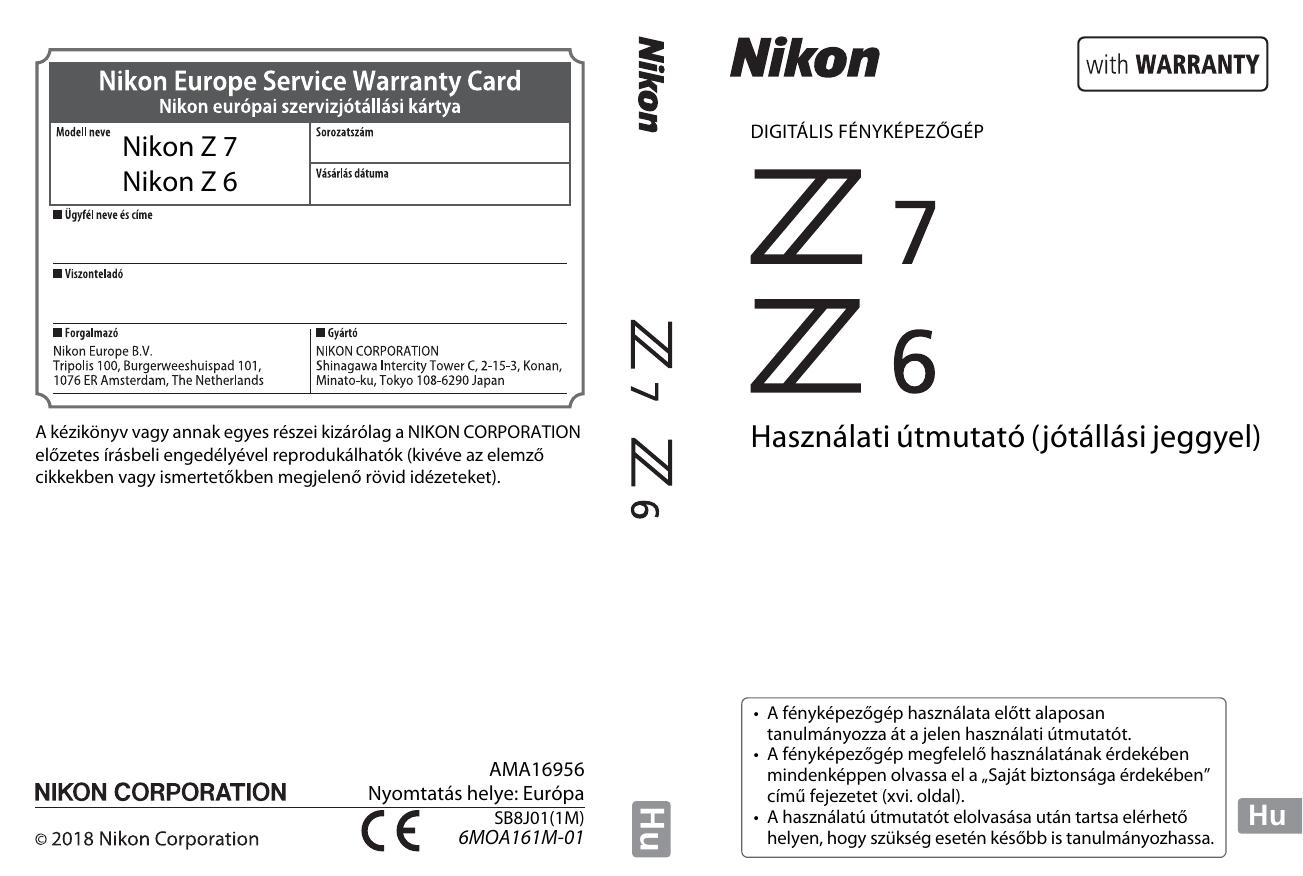 a371839b1d Nikon Z 6 Használati útmutató | manualzz.com