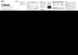 Nikon d3500 - Operating instructions, Operating instrustions