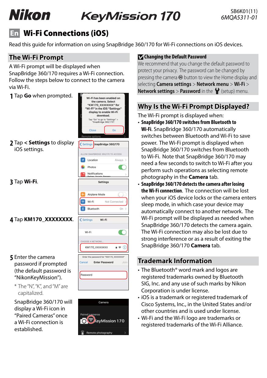 Nikon KeyMission 170 Wi-Fi Connections (iOS) | manualzz com