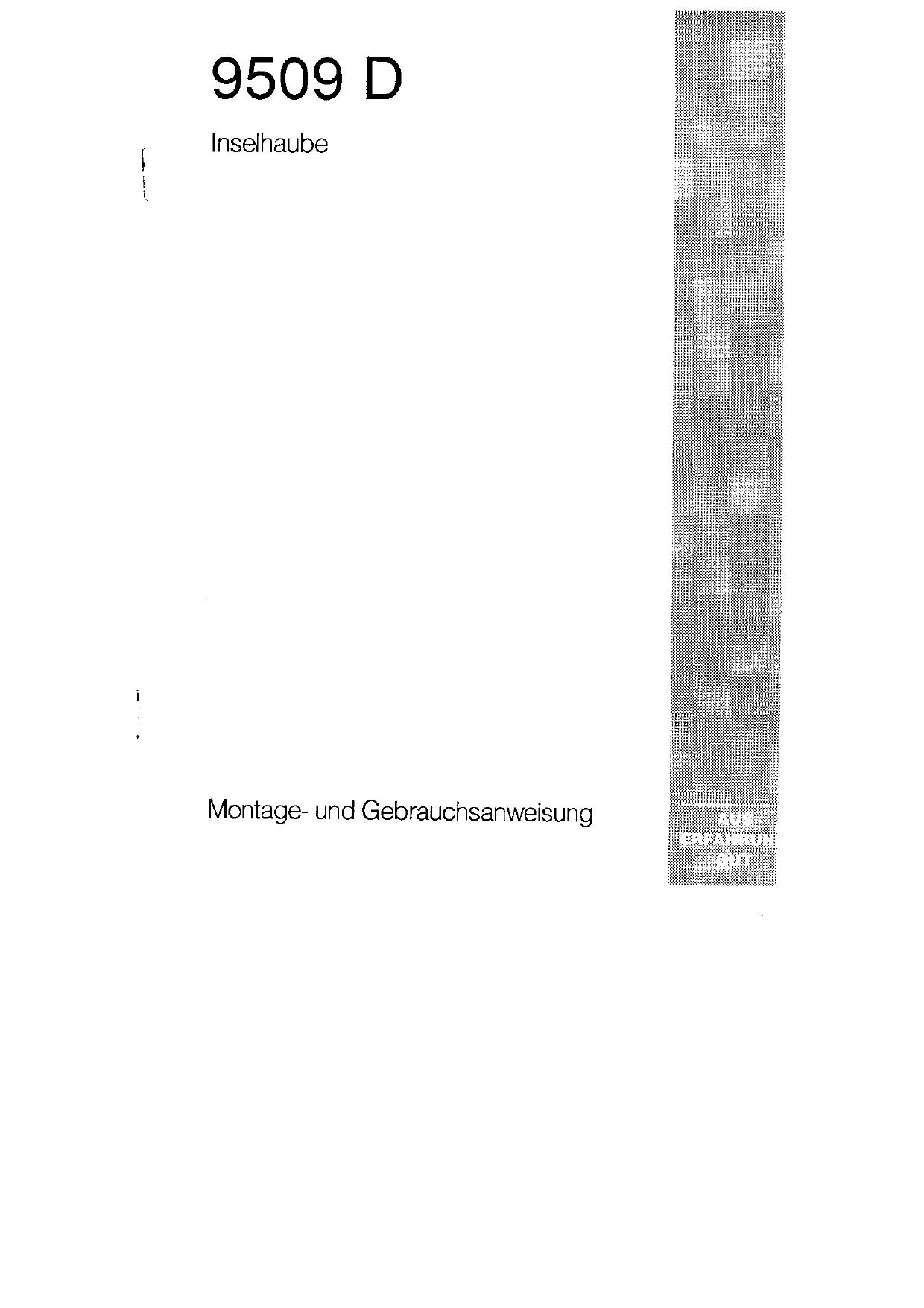 Aeg Dunstabzugshaube Bedienungsanleitung 2021
