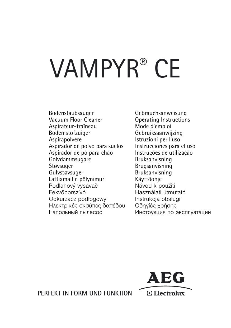 Aeg CE4400EX User Manual
