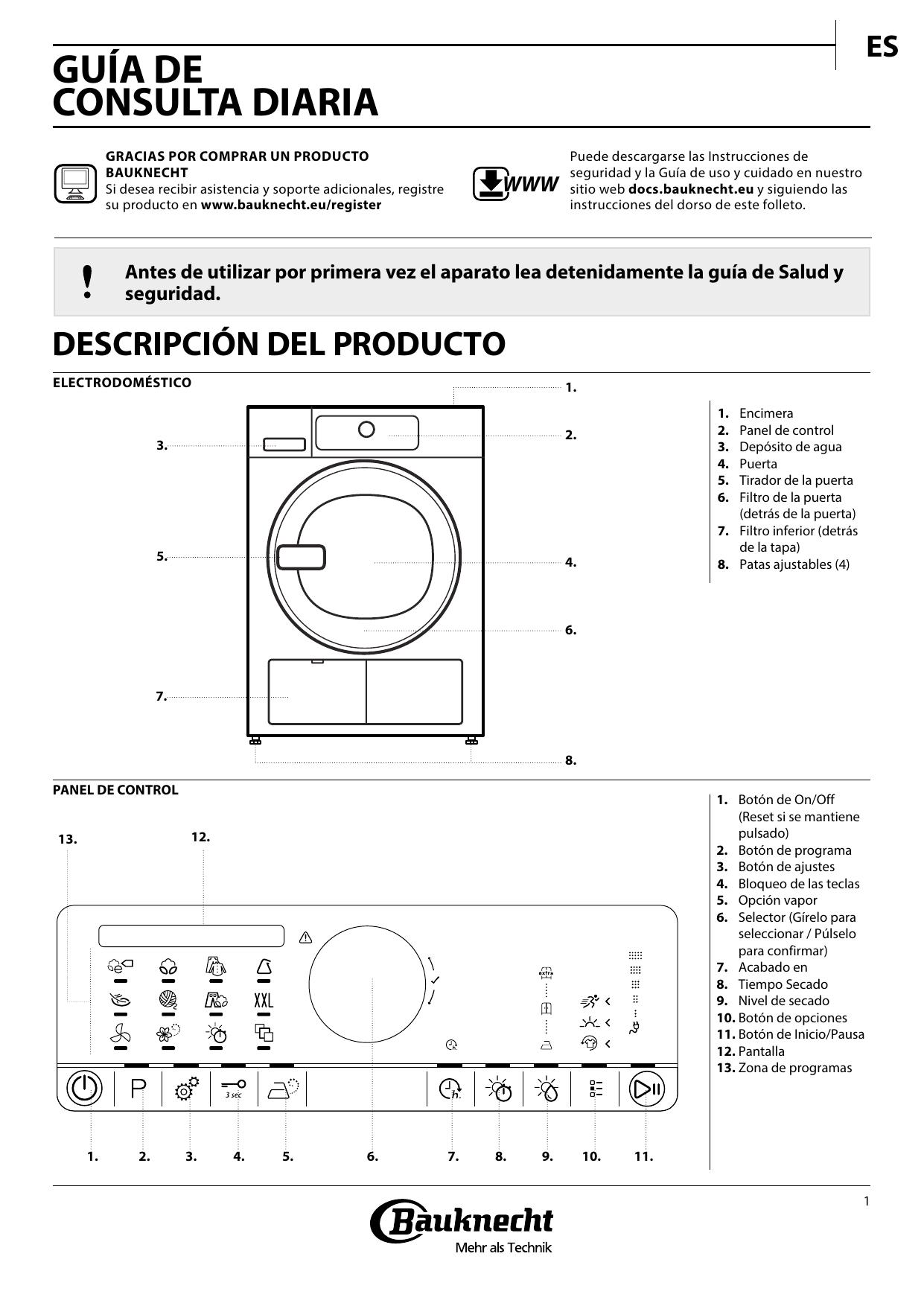Bauknecht TK Platinum 862 I Setup and user guide |