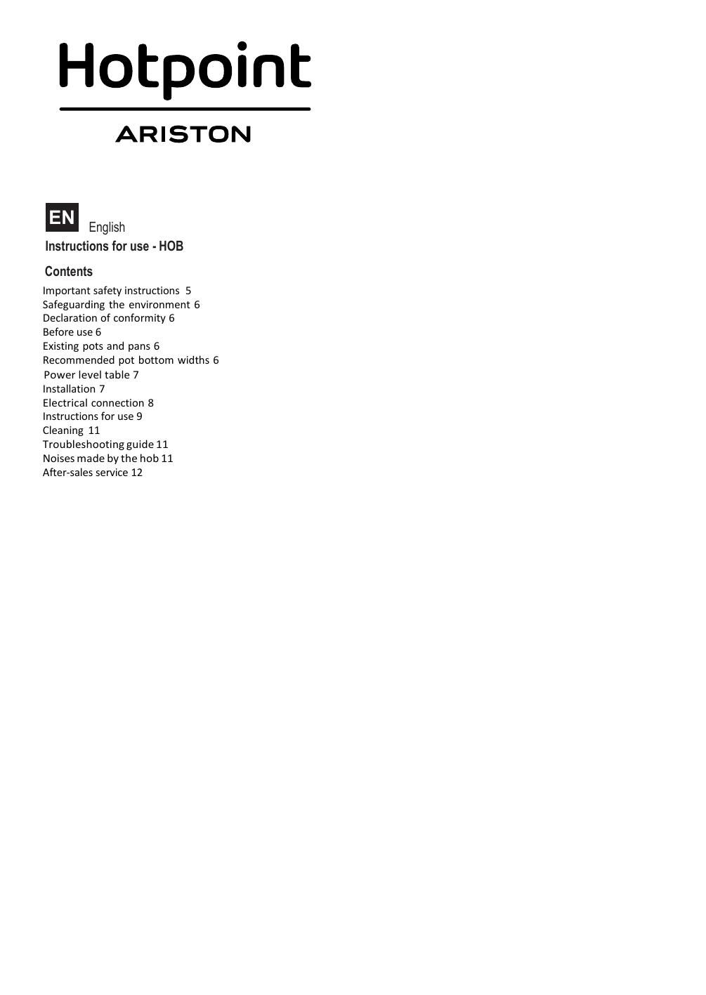 Hotpoint KID 640 B Instruction for Use   manualzz com