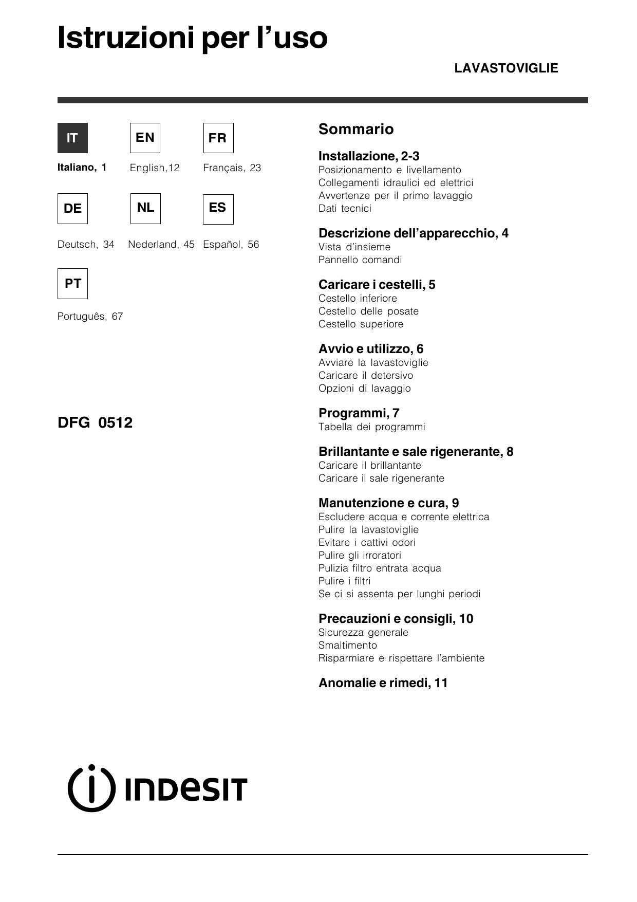 Perchè Acero Rosso Diventa Verde indesit dfg 0512 eu instruction for use | manualzz