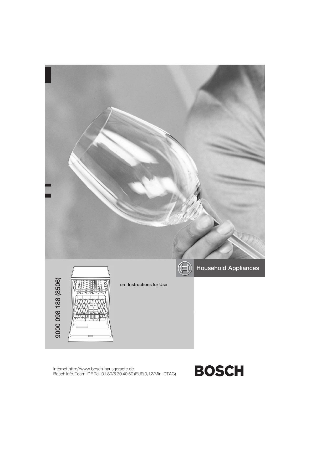 Bosch SGD55E02EU Built-under dishwasher white Instruction manual