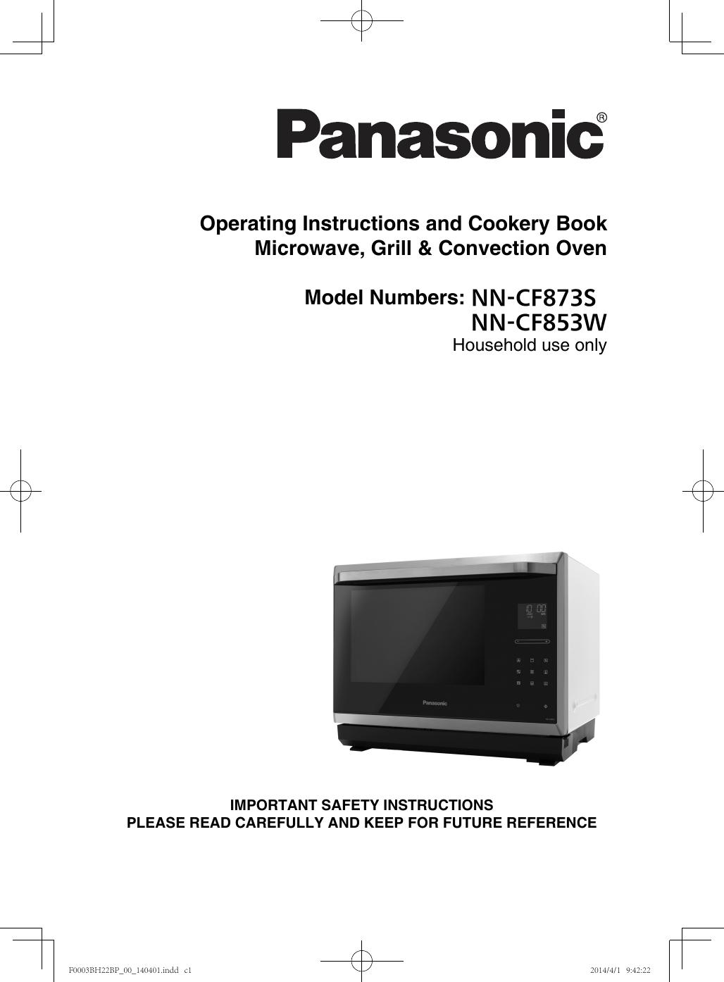 Panasonic Nncf853w Operating