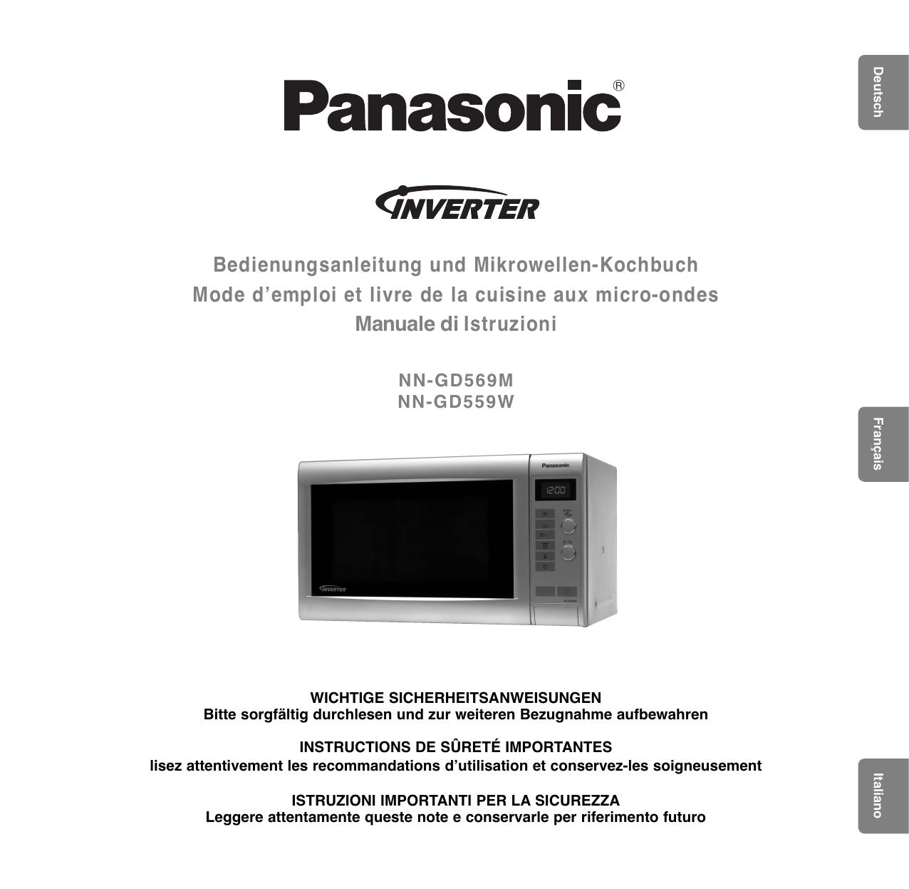 Mobiletto Per Appoggiare Microonde panasonic nngd559wwpg istruzioni per l'uso   manualzz